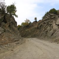 Road to Galajik between rocks, Казах