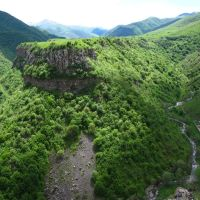 View from the city of Karvajar | Вид с Карвачарского плато, Кельбаджар