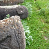 Tomb stones near museum in Karvajar, Кельбаджар