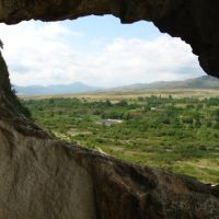 Нагорно-карабахская республика, вид из ране-христианского пещерного храма близ Тигранакерта | Nagorno-Karabakh Republic, view from the early-christian cave temple, near Tigranakert, Куткашен