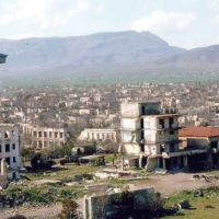 Ruins Aghdam town of Azerbaijan Republic after armenian occupation, Агдам