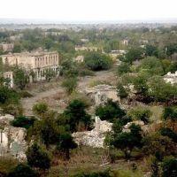 town Akna /former Agdam/ ruined by azerbaijan barbarian during war, Republic of Mountainous Karabagh. г, Акна /быв Агдам/ разрушенный азерскими варварами в ходе войны, НКР, Агдам