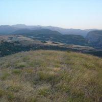 Вид на Село Шош и город Шушу, Арцах, Алунитаг
