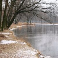 Tiszaligeti tó jégben, Сольнок