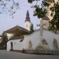 Kecskemét Főtér-Evangélikus templom és a Ferences templom előtere, Кечкемет