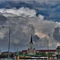 Vihar előtt a Búza téren, Мишкольц