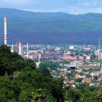 Miskolc-Vasgyár látkép az Avasról, Мишкольц