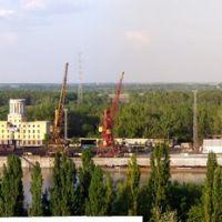 Dunaújváros - kikötő, panoráma, Дунауйварош