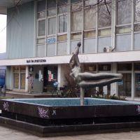 Sellő az uszoda előtt (Cyránski Mária alkotása), Дунауйварош