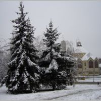 The first snow in the city, Дунауйварош