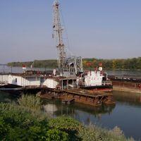 Dunaújvárosi Kikötő a löszfalról, Дунауйварош