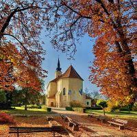 Church, Autumn, Colours... Kis őszi színes - Heves DSC_9073-9074, 9079 Panorama-1, Гионгиос