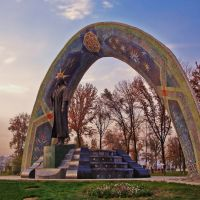Rudaki Statue - Rudaki Garden, Dushanbe, Tajikistan, Дангара