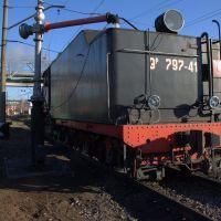 Заправка паровоза водой, Лениградский