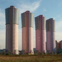 "Buildings of ""Grand-park"" complex on Aviakonstruktora Sukhogo street, Лениградский"