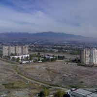 View of the eastern part of the Dushanbe from the roof of the Diagnostic Center (Tajikistan), Советский