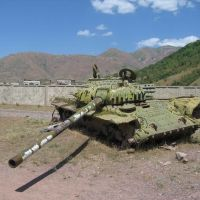 Old soviet tank, broken in Afghanistan war, Советский
