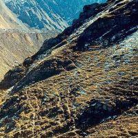 склоны над ледником Кызылкуль, Адрасман