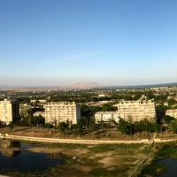 Panorama of the Chkalovsk. Sogd, Tajikistan., Зафарабад