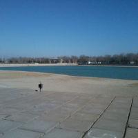 вид на дамбу озера, Чкаловск