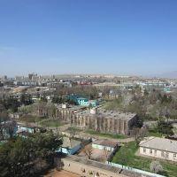 вид на город, слева вдали 9этажки возле озера, по центру вдали квартал новый, Чкаловск