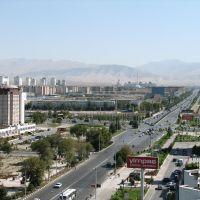 Turkmenbashy avenue in ASHGABAT, Ашхабад