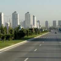 Ashgabat, Turkmenistan Holds the Guiness World Record for Highest Density of White Marble Buildings, Ашхабад