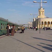 Ashgabad Station - Departure of the Türkmenbaşy - Daşoguz Express Train, Ашхабад