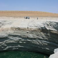Blubbernder Wasserkrater in der Karakum-Wüste [06 / 2008], Бекдаш