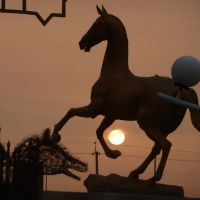 Horse over the sunset (Balkanabat hippodrome), Джебел