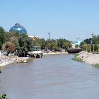 river beside blue bazaar, Mary, Turkmenistan, Мары