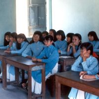Classroom scene from 1993, Дананг