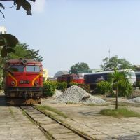 Da Nang, locomotive depot, Nov. 2007, Дананг