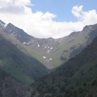 Abshir Pass, view from Kapchagay (S), Алтынкуль