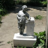 Osh, young Lenin sculpture (in the past kindergarten, now chaikhana), Алтынкуль