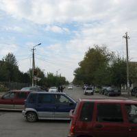 Kyzyl-Kiya, crossroad near market-place, Балыкчи