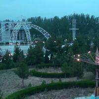 Площадь перед кортом. 3-й мкр. Колесо в Детском Парке., Ленинск
