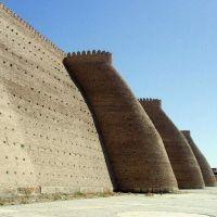 #40 Uzbekistan - Bukhara- Ark Citadel Walls, Бухара