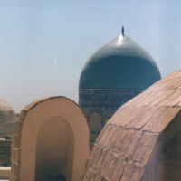 Chor-Bakr - roof of mosque complex / Kopuły na dachu kompleksu nekropolii Czor-Bakr, Каракуль