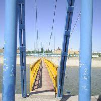 "Jizzax, naprotiv Pianaja Gora podvesochnyj most cherez Reku""Sanzar"", Джизак"