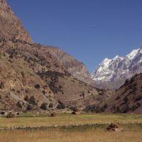 Village dans la vallée dArtcha Maïdan, Заамин