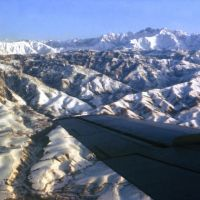Pamir Mountains aerial view. 1984, Усмат