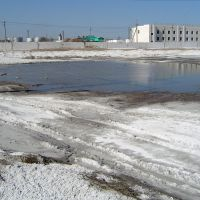 Soda sediments near Kungrad Cargo Station, Кегейли
