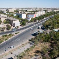 """Вид с гостинтцы """"Ташкент"""" на Турткульское шоссе, Нукус"""