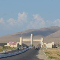 Ouzbékistan.Point de controle sur la route entre Shahrisabz et Samarkand., Гузар