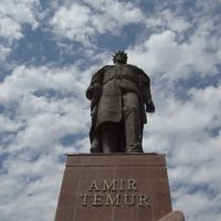 Ouzbékistan.Shahrisabz.Statue dAmir Témur (Tamerlan)., Китаб