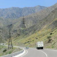 дорога  из Бишкек в Oш, Касансай