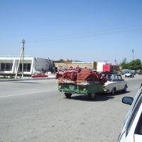 Vers Navoiy - bifurcation pour aller à Nurata, Ингичка