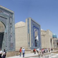 Samarkand - Panorama - Inside Shah-i-Zinda necropolis, Самарканд