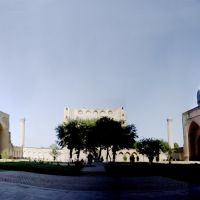 Samarkand - inside Bibi Khanum mosque, Самарканд